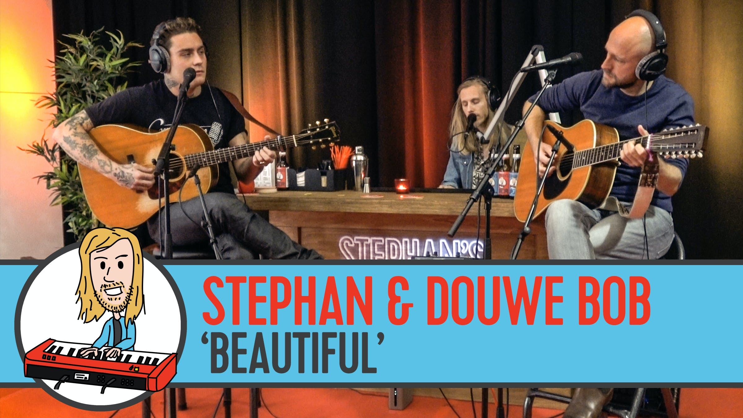 Douwe Bob en Stephan zingen 'Beautiful'